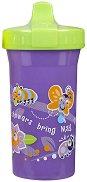 Лилава неразливаща се чаша с твърд накрайник - Sipster 266 ml - За бебета над 12 месеца -