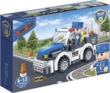 """Полицейски автомобил - Детски конструктор с pull-back механизъм от серията """"Police"""" - играчка"""