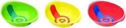 Купички за хранене с индикатор за топлина - Комплект от 3 броя за бебета над 6 месеца - купичка