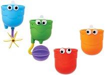 Фонтанче - Комплект от 4 броя играчки за баня -