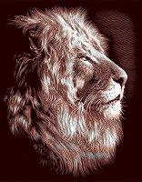 Лъв - Скреч картина с размери 20 x 25 cm