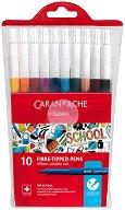 """Флумастери - Комплект от 10 цвята от серията """"School"""""""