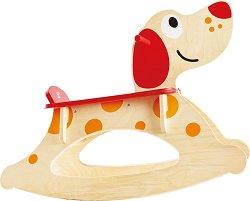 Люлеещо се куче - Детска дървена играчка -