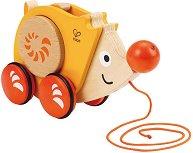 Таралеж - Дървена играчка за дърпане - играчка