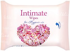 Интимни мокри кърпички - С екстракт от лайка и млечна киселина в опаковка от 25 броя - крем