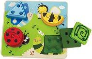 Подреди буболечките - Дървена играчка за сортиране - играчка