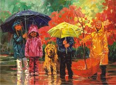 Под дъжда - Корин Хартли (Corinne Hartley) - пъзел