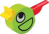 Дървена свирка - Птиче - Детска играчка -