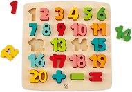 Цифрите - Детски образователен дървен пъзел - пъзел