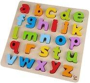 Буквите от английската азбука - Детски дървен пъзел -