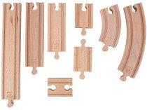 Релси за влак - Дървена играчка за разширение на релсов път -
