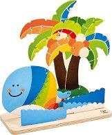 Създай сам - Тропически остров - Творчески комплект с бои -