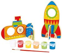 Създай сам - Космически кораби - Творчески комплект с бои - творчески комплект