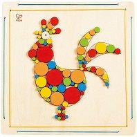 Направи сам мозайка - Петел - Творчески комплект от дърво - играчка