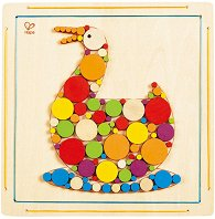 Направи сам мозайка - Пате - Творчески комплект от дърво -