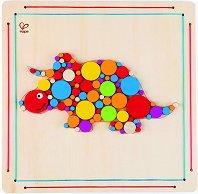 Направи сам мозайка - Трицератопс - Творчески комплект от дърво -