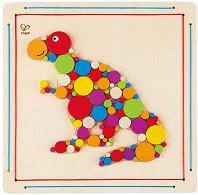Направи сам мозайка - Тиранозавър - Творчески комплект от дърво -
