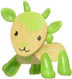 Козичка - Дървена мини фигура -