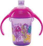 """Неразливаща се преходна чаша с дръжки - Подводен свят: 207 ml - За бебета над 6 месеца от серията """"Click Lock"""" -"""
