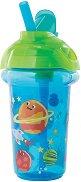 """Неразливаща се преходна чаша със сламка - Космос: 266 ml - За бебета над 12 месеца от серията """"Click Lock"""" -"""