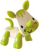 Носорог - Дървена мини фигура -