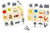 Намери формата и сянката - Детска образователна игра -