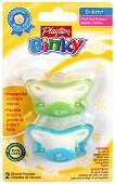 Физиологични силиконови залъгалки - Binky Pacifier: Fish and Duck - Комплект от 2 броя за бебета от 0  до 6 месеца -