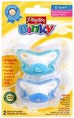 Физиологични силиконови залъгалки - Binky Pacifier: Duck and Star - Комплект от 2 броя за бебета от 0  до 6 месеца - залъгалка
