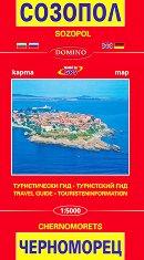 Карта на Созопол и Черноморец. Туристически гид Map of Sozopol and Chernomorets. Travel Guide -