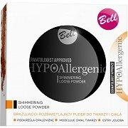 "Bell HypoAllergenic Shimmering Loose Powder - Хипоалергенна озаряваща пудра за лице на прах от серията ""HypoAllergenic"" - четка"