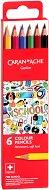 """Цветни моливи - Soft lead - Комплект от 6 или 12 цвята от серията """"School"""""""
