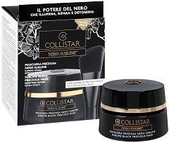 "Collistar Nero Sublime Black Precious Mask - Възстановяваща маска за лице от серията ""Nero Sublime"" - гел"