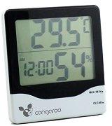 Дигитален термометър с часовник за стая - 2 в 1 -