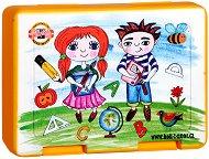 Детска кутия за храна - Момиче и момче -