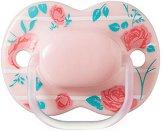 """Розова силиконова залъгалка с ортодонтична форма - За бебета от 0 до 6 месеца от серия """"Little London"""" -"""