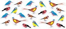Стикери от EVA пяна - Британски птици - Комплект от 100 броя