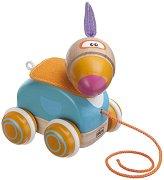 Папагал - Дървена играчка за дърпане -