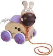 Пони - Дървена играчка за дърпане -