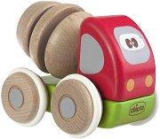 Камионче - Бетонобъркачка - Дървена играчка -