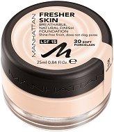 Manhattan Fresher Skin Make Up - SPF 15 - Дълготраен фон дьо тен, минимизиращ нежелания блясък - сапун