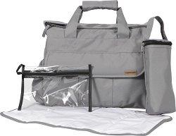 Чанта - Care - Аксесоар за детска количка с термобокс и подложка за преповиване -