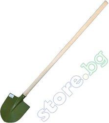 Права лопата със заоблен връх - С дръжка