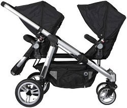 Комбинирана бебешка количка за близнаци - 2 Combi - С 4 колела -