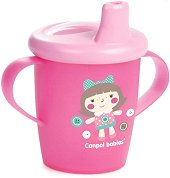 """Неразливаща се чаша с дръжки и твърд накрайник - Anywayup: Toys 250 ml - От серия """"Haberman"""" за бебета над 12 месеца -"""