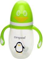 Бебешко шише за хранене с дръжки - Пингвинче 210 ml - Комплект със силиконов биберон и накрайник - продукт