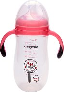 Бебешко шише за хранене с дръжки - Chickling 280 ml - Комплект със силиконов биберон с променящ се поток за бебета над 3 месеца -