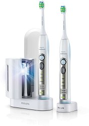 Philips Sonicare FlexCare - Комплект от 2 електрически четки за зъби с акумулаторна батерия и UV стерилизатор - четка