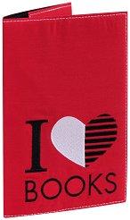 Текстилна подвързия за книга - I Love Books -