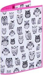 Текстилна подвързия за книга - Бухали -