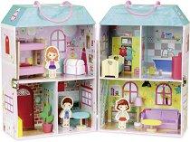 Къща за кукли - Куфарче - Детска играчка с аксесоари - играчка